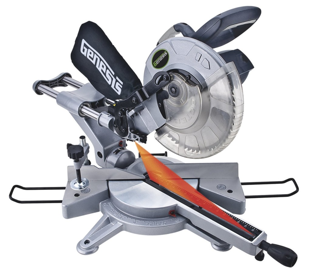 Genesis GMSUDR15L 10-Inch 15-Amp Sliding Compound Miter Saw