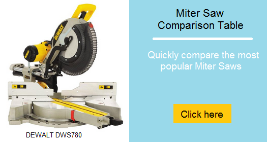 Miter saw comparison table